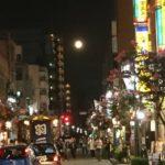 立川駅 南口 満月の夜