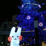 立川北口 大きなツリー くるりんちゃん